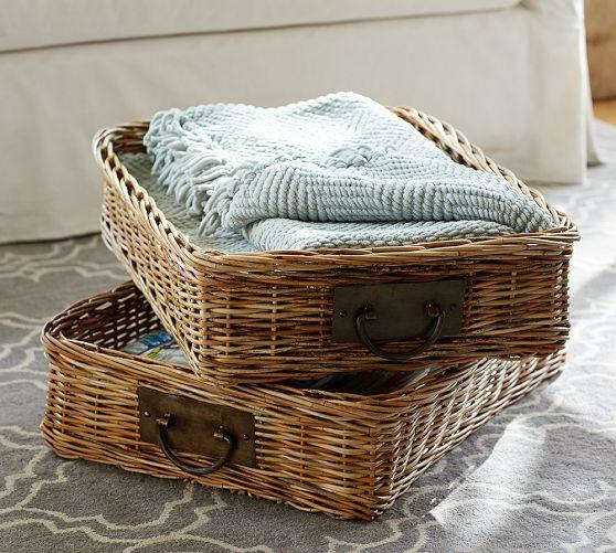 Caden Rectangular Ottoman Basket Pottery Barn