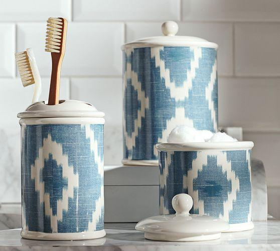 ikat bath accessories pottery barn