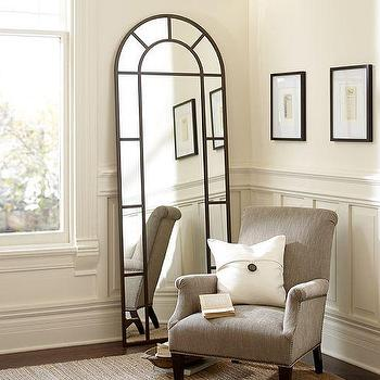 Mirrors - Distiller Arch Mirror | Pottery Barn - arched mirror, arched floor mirror, arched pane floor mirror,