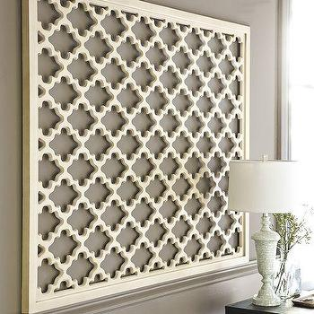 Art/Wall Decor - Lattice Panel Wall Art | Pottery Barn - lattice panel wall art, white lattice paneled wall art, carved lattice wall panel,
