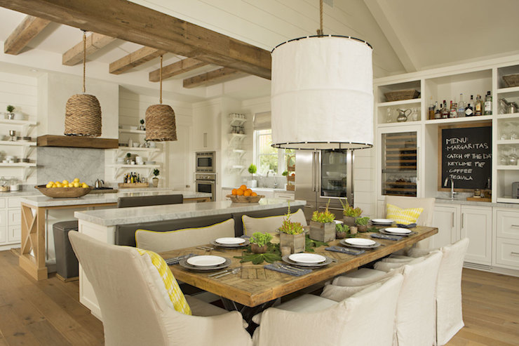 Cottage Style Kitchen Islands With Wine Cooler