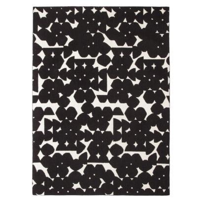 area rug black shell 5 39 x7 39 i target modern black and white rug