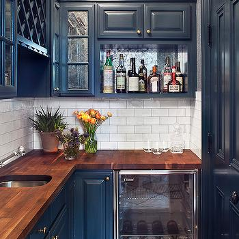 Navy Cabinets, Contemporary, kitchen, Blair Harris Interior Design