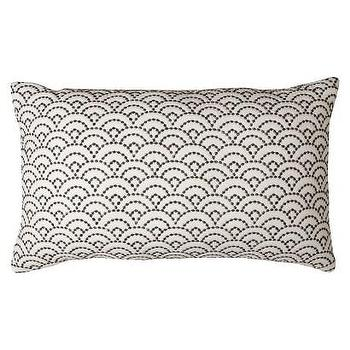 Pillows - Threshold Quilted Scallop Decorative Pillow I Target - white and gray scallop pillow, white pillow with gray scallop embroidery, white and gray scalloped pillow,