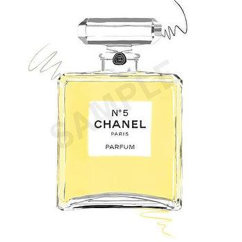 Art/Wall Decor - Yellow Chanel No. 5 Paris Parfum. perfume fashion by RKHercules I Etsy - chanel perfume bottle wall art, chanel no 5 illustration, chanel no 5 perfume bottle wall decor,