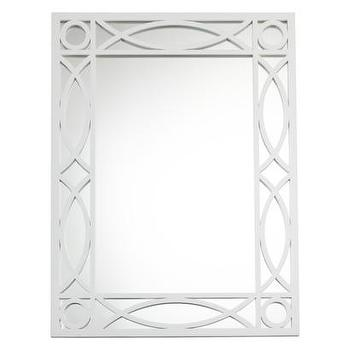Mirrors - Threshold Patterned Wall Mirror - White I Target - white fretwork mirror, white geometric framed mirror, white latticework framed mirror,