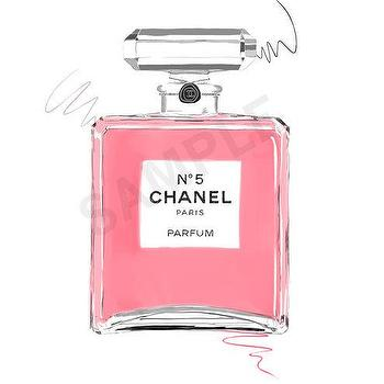 Art/Wall Decor - Pink Chanel No. 5 Paris Parfum. perfume fashion by RKHercules I Etsy - pink chanel no 5 perfume wall art, pink chanel no 5 perfume bottle illustration, pink chanel no 5 perfume bottle art print,