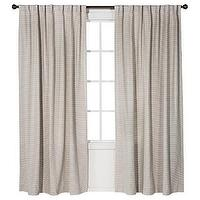 Window Treatments - Nate Berkus Linen Weave Window Panel I Target - woven cotton drapes, gray woven cotton drapes, gray woven cotton curtains,
