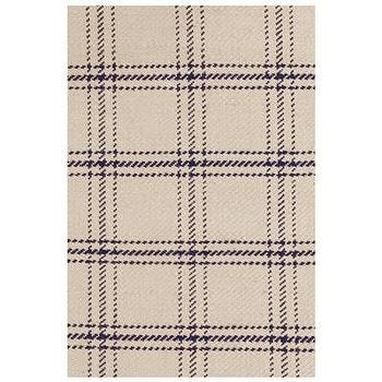 Rugs - Bunny Williams for Dash & Albert Cooper Navy Jute Woven Rug I Layla Grayce - plaid jute rug, beige and navy plaid rug, beige and navy plaid jute rug,