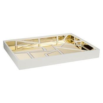 Decor/Accessories - Nate Berkus Gold Mirrored Decorative Tray I Target - gold mirrored tray, gold and white mirrored tray, modern gold and white mirrored tray,