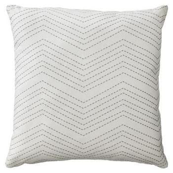 Pillows - Room Essentials Embroidered Chevron Toss Pillow I Target - gray embroidered chevron pillow, gray and cream chevron pillow, gray and cream chevron embroidered pillow,