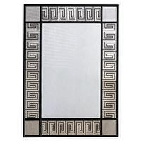 Mirrors - Palisades Mirror I Layla Grayce - greek key framed mirror, greek key antique framed mirror, black framed greek key mirror,