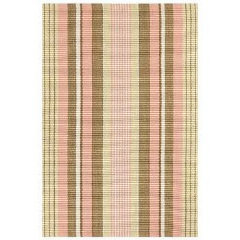 Rugs - Bunny Williams for Dash & Albert Phoebe Indoor/Outdoor Rug I Layla Grayce - pink and brown striped rug, pink and brown striped indoor outdoor rug, terracotta pink and brown striped indoor outdoor rug,