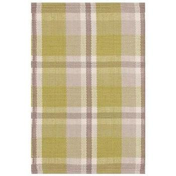 Rugs - Bunny Williams for Dash & Albert Brewster Indoor/Outdoor I Layla Grayce - moss green and taupe plaid rug, green and taupe plaid rug, green and taupe plaid indoor outdoor rug,