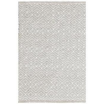 Rugs - Bunny Williams for Dash & Albert Annabelle Grey Indoor/Outdoor Rug I Layla Grayce - gray and white geometric rug, gray and white geometric indoor outdoor rug, gray and white diamond patterned rug, gray and white diamond motif rug, gray and white diamond motif indoor outdoor rug,