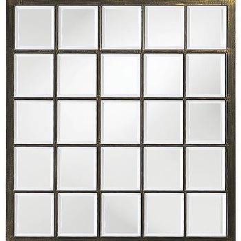Mirrors - Danielle Mirror - Square Mirror | HomeDecorators.com - square paned mirror, windowpane mirror, square mirror paned mirror,