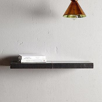 Art/Wall Decor - Zinc Floating Shelf I anthropologie.com - metal floating shelf, metal clad floating shelf, industrial style floating shelf, zinc floating shelf, zinc clad floating shelf,