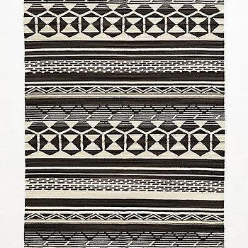 Rugs - Handwoven Medina Rug I anthropologie.com - black and white handwoven rug, black and white medina rug, black and white tribal rug,