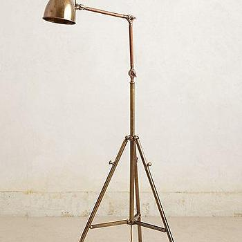 Lighting - Tripod Floor Lamp I anthropologie.com - vintage style brass floor lamp, adjustable brass floor lamp, brass tripod floor lamp, adjustable brass tripod floor lamp,