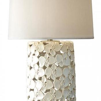 Lighting - Florette Table Lamp | HomeDecorators.com - taupe flower table lamp, taupe floral table lamp, floral cutout table lamp,