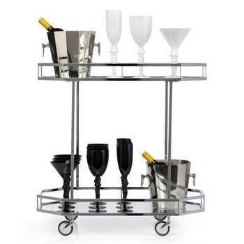 Storage Furniture - Metropolitan Bar Cart | Z Gallerie - contemporary bar cart, chrome bar cart, chrome rolling bar cart,