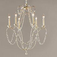 Lighting - Rowan Iron Beaded Chandelier | Pottery Barn - white beaded chandelier, white iron beaded chandelier, white glass and wood bead chandelier,