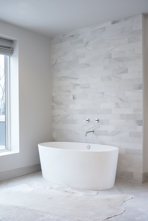 Oval Freestanding Bathtub Contemporary Bathroom Leo
