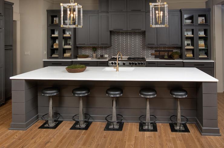 Rhino White Quartzite Contemporary Kitchen Benjamin