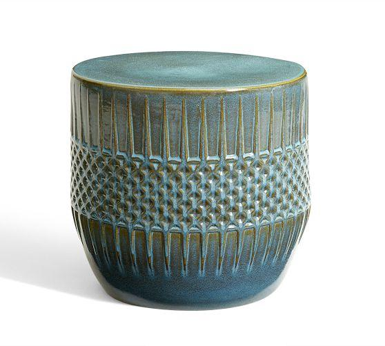 Ceramic Ethnic Accent Table Pottery Barn
