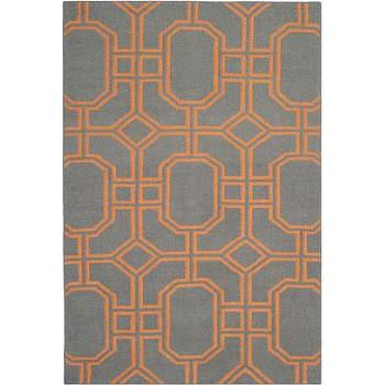 Rugs - Safavieh Dhurries Blue/Orange Rug | Wayfair - blue and orange geometric rug, blue gray and orange geometric rug, blue and orange modern rug,