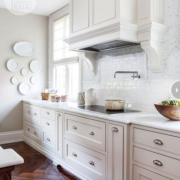 Honed Calcutta Marble Countertops, Transitional, kitchen, Style at Home