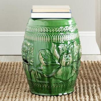 Seating - Safavieh Chinese Dragon Stool | Wayfair - green foo dog garden stool, green chinese dragon garden stool, glazed green asian garden stool,
