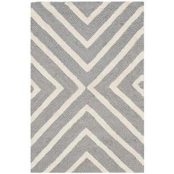 Rugs - Safavieh Cambridge Silver / Ivory Rug | Wayfair - gray and ivory geometric rug, gray and ivory chevron rug, gray and ivory contemporary rug, silver gray and ivory geometric rug,