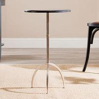 Tables - Safavieh Crystal End Table | Wayfair - silver end table with granite top, round black granite end table with silver base, round silver end table with black granite top,