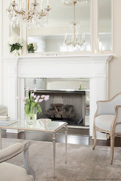 Mirrored Fireplace Surround - French - living room - Leo ...