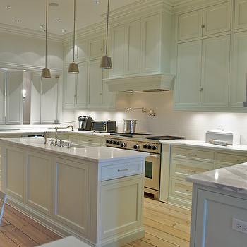 Narrow Kitchen Island, Transitional, kitchen, Leo Designs Chicago