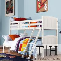 Beds/Headboards - Armidale White Beadboard Twin Full Bunk Bed | Overstock.com - white beadboard bunkbed, white beadboard bunk bed, white beadboard twin full bunkbed, white beadboard twin over full bunk bed,