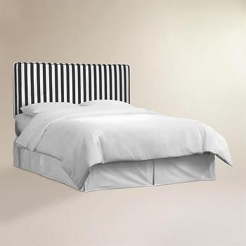 Beds/Headboards - Canopy Stripe Loran Headboard | World Market - black and white striped headboard, canopy striped headboard, black and white upholstered headboard,