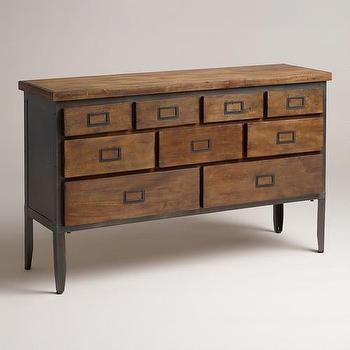 Storage Furniture - Nomad Sideboard | World Market - industrial style sideboard, vintage style printmakers sideboard, printmakers cabinet style sideboard,