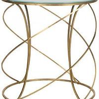 Tables - Brynn Accent Table | HomeDecorators.com - gold metal accent table, gold spiral accent table, gold spiral shaped round side table,
