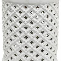 Seating - Jemma Garden Stool | HomeDecorators.com - white lattice garden stool, white cutout garden stool, white ceramic garden stool,