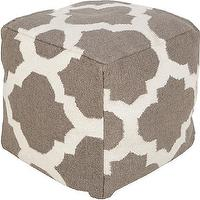Seating - Moroccan Pouf | HomeDecorators.com - gray and white moroccan pouf, gray moroccan pouf, cube shaped gray moroccan pouf,