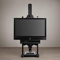 "Storage Furniture - 80"" Tv Easel I Restoration Hardware - black tv easel, black tv easel stand, black artists easel television stand,"