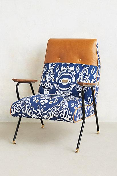 Midnight Ikat Chair I anthropologie
