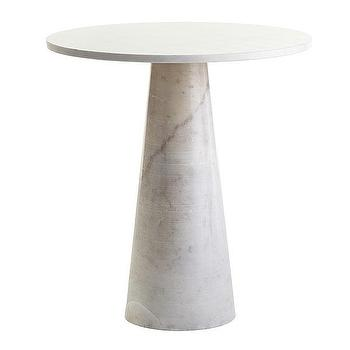 Tables - Banswara Side Table | Wisteria - contemporary marble side table, solid marble side table, marble pedestal side table,