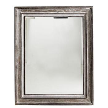 Mirrors - Provence Mirror | Wisteria - french country wall mirror, french country style rectangular mirror, distressed wood framed mirror,