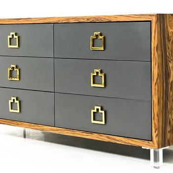 Storage Furniture - Rosewood Brixton Dresser I Room Service Store - modern rosewood dresser, rosewood dresser with black drawer fronts, rosewood dresser with brass hardware, wood framed dresser with black drawers,