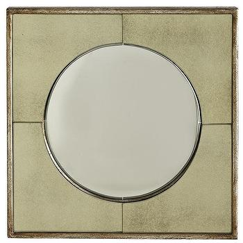 Mirrors - Portal Mirror | Wisteria - antiqued square mirror, antiqued convex mirror, antiqued convex mirror in square frame,
