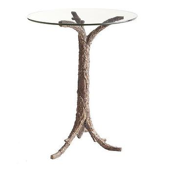 Tables - One, Two, Tree Table | Wisteria - branch side table, tree trunk side table, glass topped branch side table, resin branch side table,