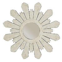 Mirrors - Modern Sunburst Mirror | Wisteria - bone inlay sunburst mirror, inlaid bone sunburst mirror, bone inlaid sun shaped mirror,